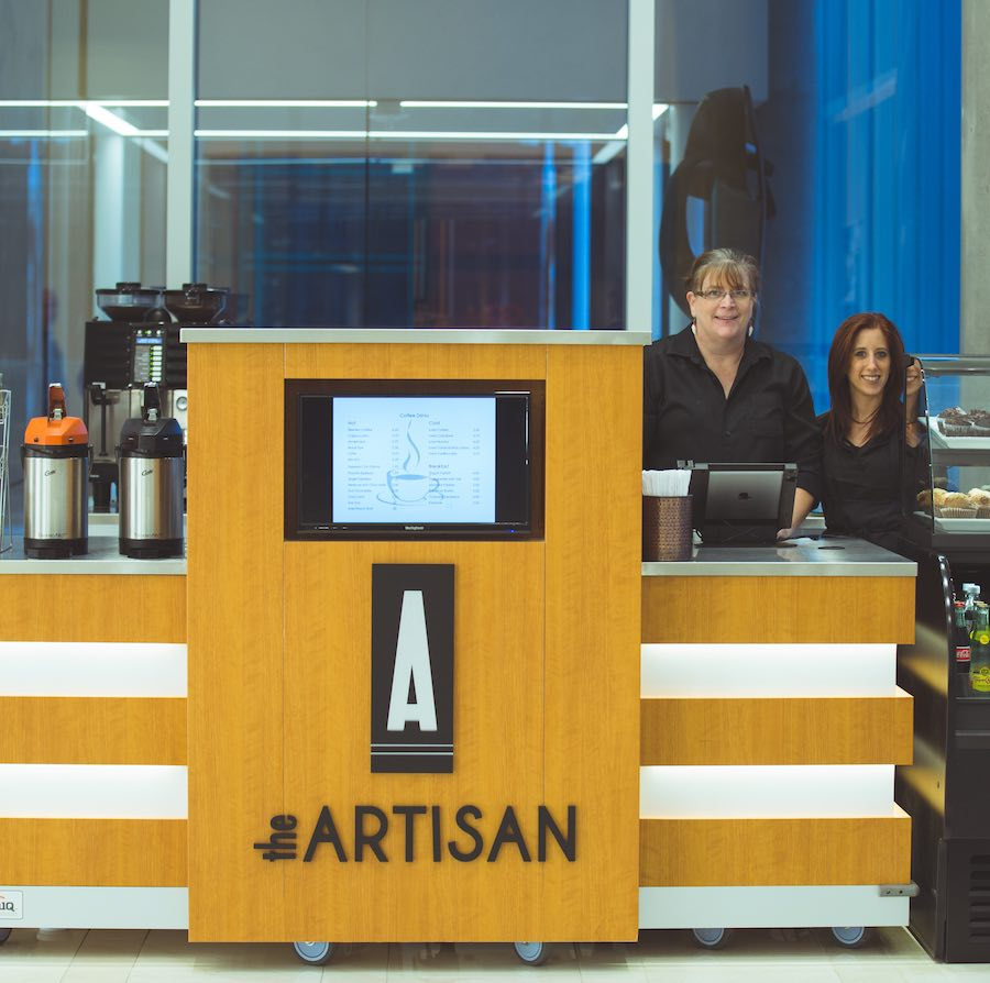 The artisan coffee shop